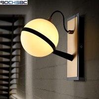 Nordic Living Room Bedroom Bedside Lighting Stairs Corridor Bathroom Lamp Modern Simple Moon Shape Glass Wall Lamps