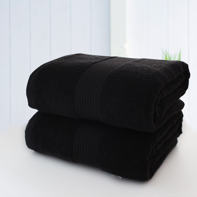 Black Bath Microfiber Towel Cloth Cotton Toallasde Banho Mutfaks Home Sofa Super Absorbent Towels Bathroom