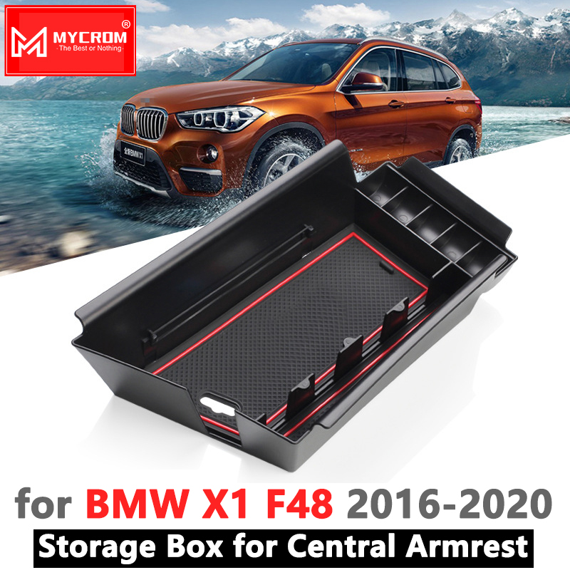 Armrest Box Storage Stowing Tidying For BMW X1 F48 2016 2017 2018 2019 2020 Car Organizer Accessories X1M M Power LHD Only