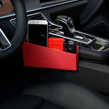 Car Styling Accessories 1PCS Leather Interior Car Seat Seam Storage Box Organizer Holder For Porsche Panamera 971 2017 2018