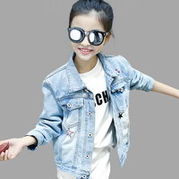 Kids Girls Denim Jacket Teenage Children Star Jacket Spring Autumn Children S Clothing Girls Outerwear 6