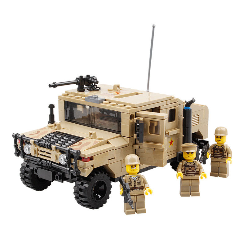 StZhou Military War Vehicle Hummer H1 3D Field Force Heavy Type Model Building Bricks Soldier Christmas Gift Toys for Children atlas 1 43 germany horch kfz 15 military command reconnaissance vehicle model alloy collection model holiday gift