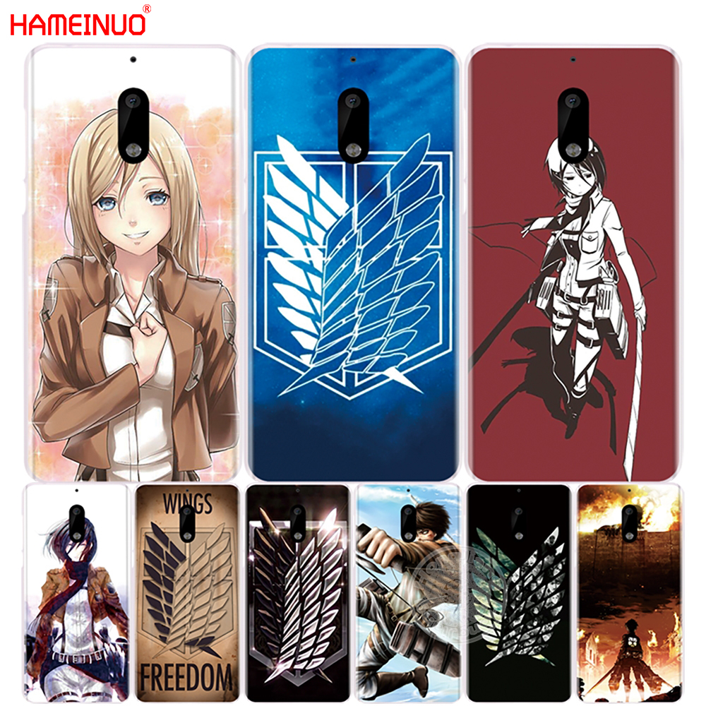 hameinuo attack on titan logo japanese anime cover phone case for nokia 9 8 7 6 5 3 lumia 630. Black Bedroom Furniture Sets. Home Design Ideas