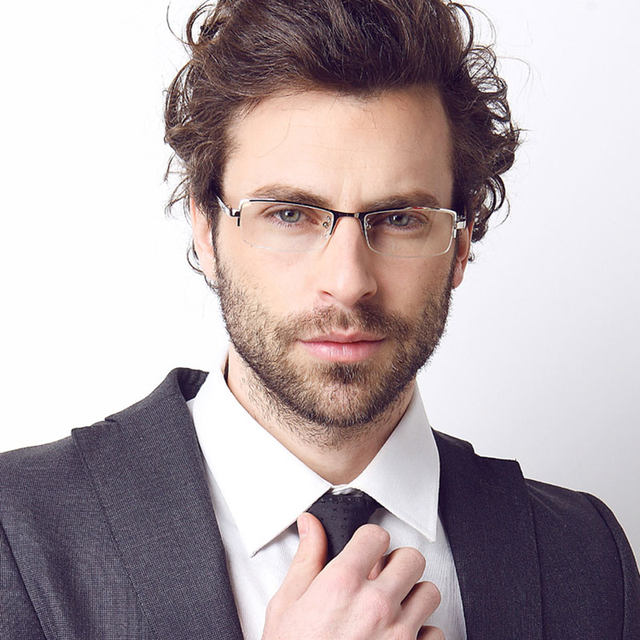 Online Shop Reven Jate Titanium Business Men Eyeglasses Optical ...