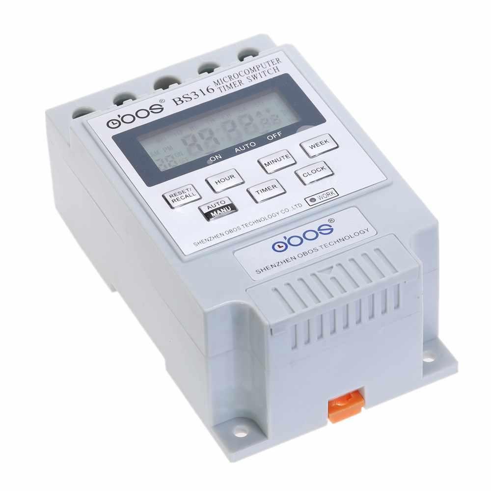 New KG316T AC 220 V 50HZ//60HZ 25 A DIN Rail Digital Timer Switch