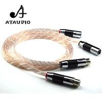 Ataudio HiFi XLR кабель высокая производительность occ 2XLR мужчин и женщин кабель с из углеродного волокна plug