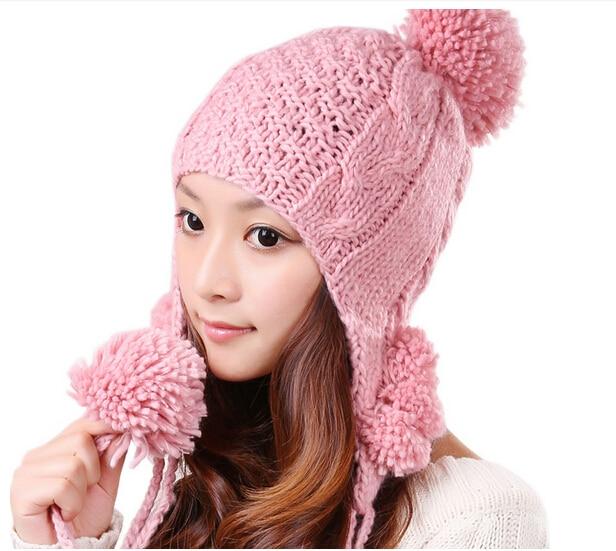 d3049372e143 ₪BomHCS Mode Femmes Knit Neige Épaissie Chaud Chapeau D hiver Beanie ...