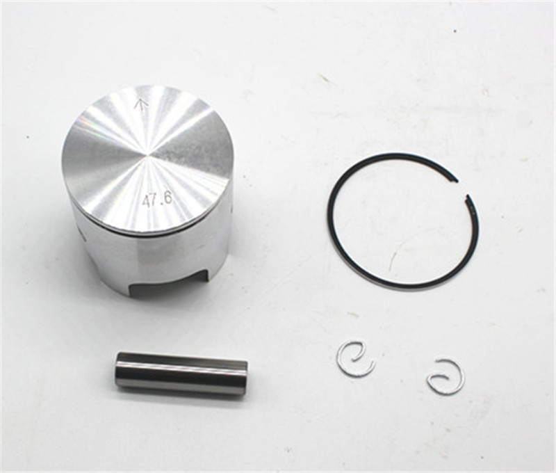 47.6MM Piston Kits with pin for Yamaha JOG 50 jog50 motorcyle cylinder JOG DIA=47.6MM, Minarelli cylinder Dia=47.6MM pin=10mm