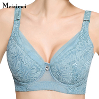 Plus Size Push Up Thin Sexy Large Cup Big Size Bra Lace Full Cup Bra 80