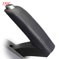 Handbrake Leather Covers Case For Ford KUGA SUV Genuine Leather Handbrake Lever Grips