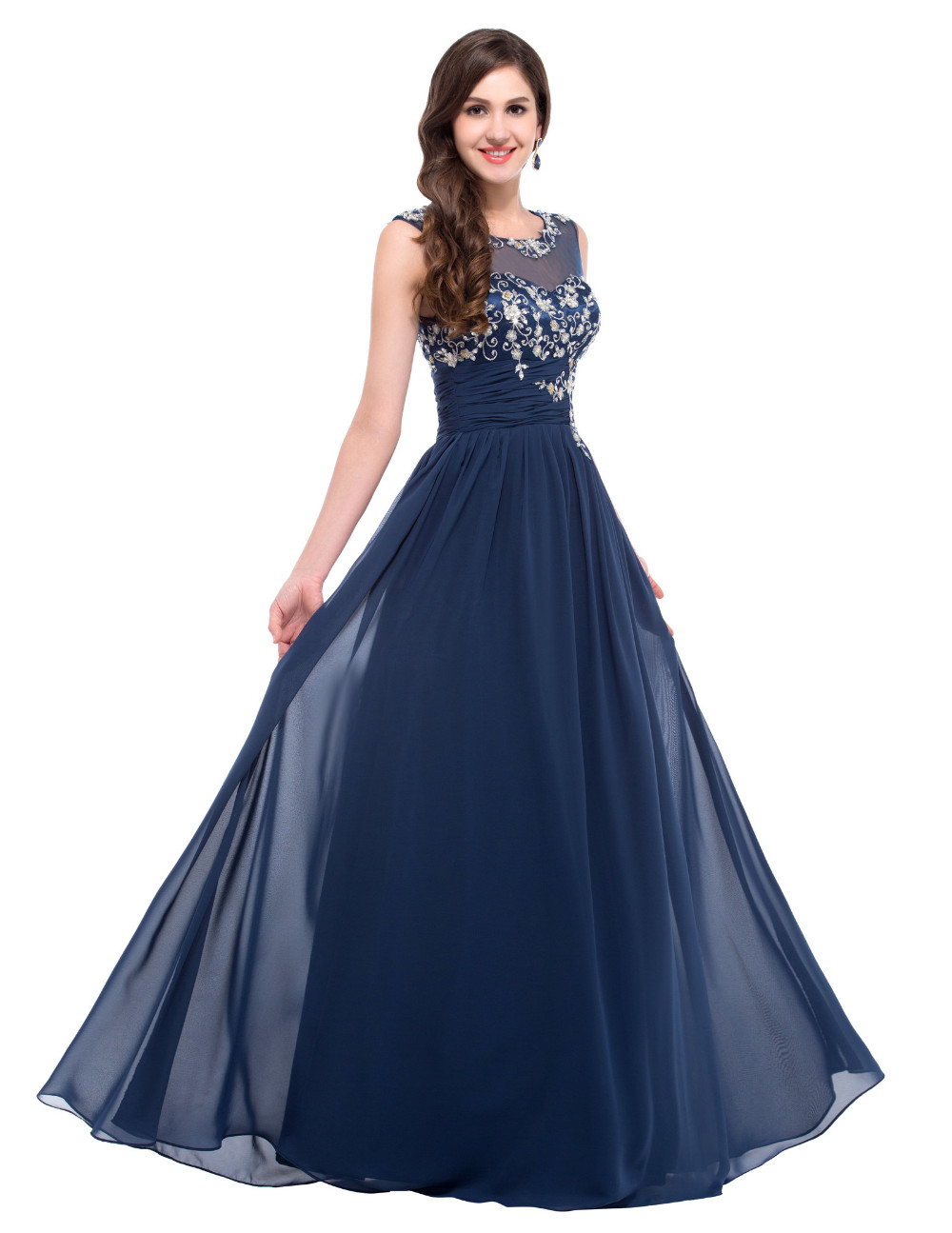 Elegant Chiffon Long Evening Bridesmaid Dress