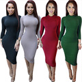 2017 Women Sexy Club Dress Slim Long Sleeve Winter White Dress Turtleneck Black Bandage Bodycon Party Dresses Plus Size Vestidos