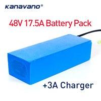 48 В 13S7P 17.5Ah 1000 Вт eBike батарея для 18650 ячеек встроенный 50A литиевая батарея BMS 1000 Вт С EU/US 54,6 в 3A зарядное устройство