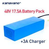48V 13S7P 17.5Ah 1000W eBike Battery For 18650 Cell Built in 50A BMS Lithium Battery 1000W with EU/US 54.6V 3A charger