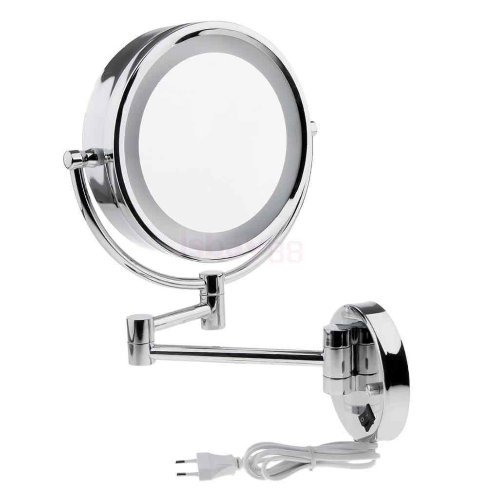 Mirrors Led Gold Bathroom Extendable Folding Dual Sided Makeup Beauty 3x Magnify Mirror Home Garden