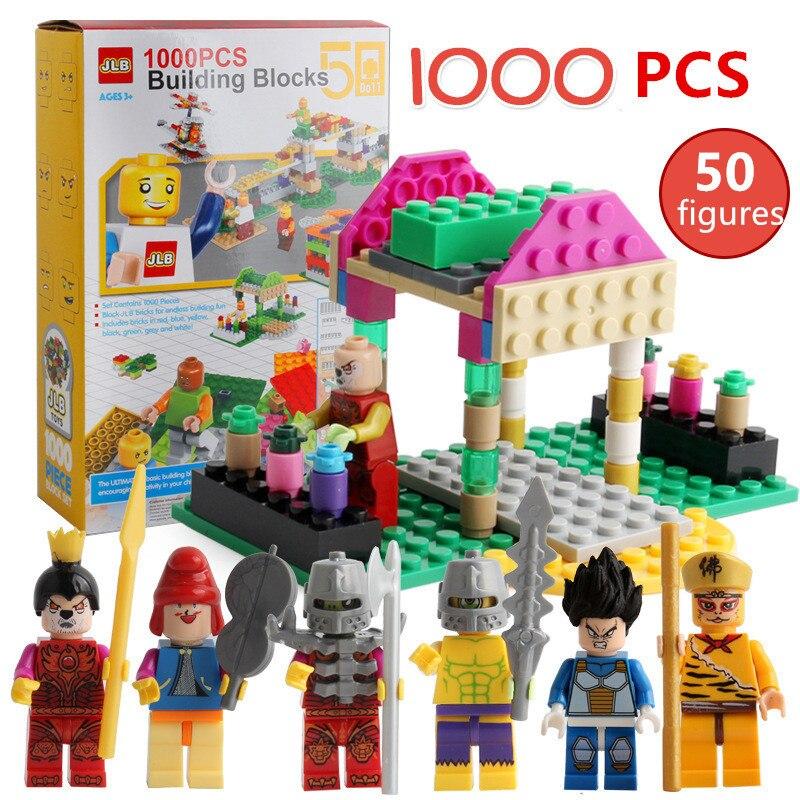 NEW 1000 Pieces Building Blocks Legoings City DIY Kids Creative Bricks Brinquedos Action Figures Educational Toys for Children