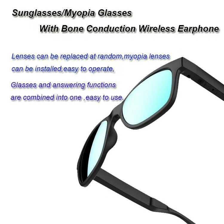e95790df73 ... GL01 Bone conduction Bluetooth glasses IP67 Waterproof One-click  answering call Compatible with sunglasses and ...