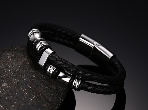Купить 2020 модный мужской браслет черные ювелирные изделия из искусственной