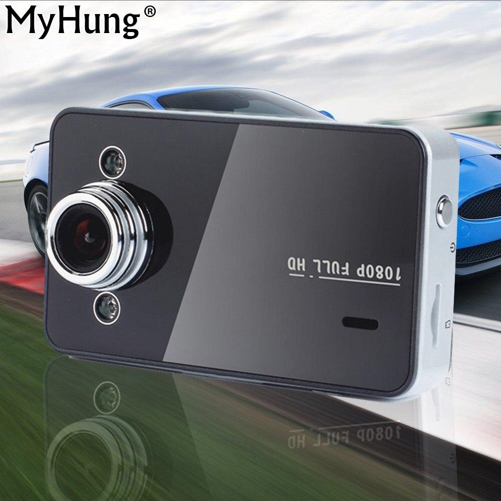 K6000 Bil DVR 1080P Full HD Dash Cam 2,4 '' HD-skærm Night Vision 140 vidvinkelobjektiv Auto bilkamera Videooptager Car-Styling