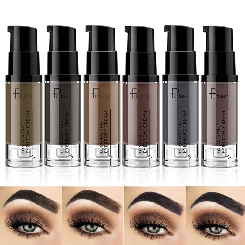 Pudaier 1PC Waterproof Gel Long Lasting Tint Henna Shade For Natural  Brow Enhancer Brand Makeup Cream/ Eyebrow Brush TSLM2