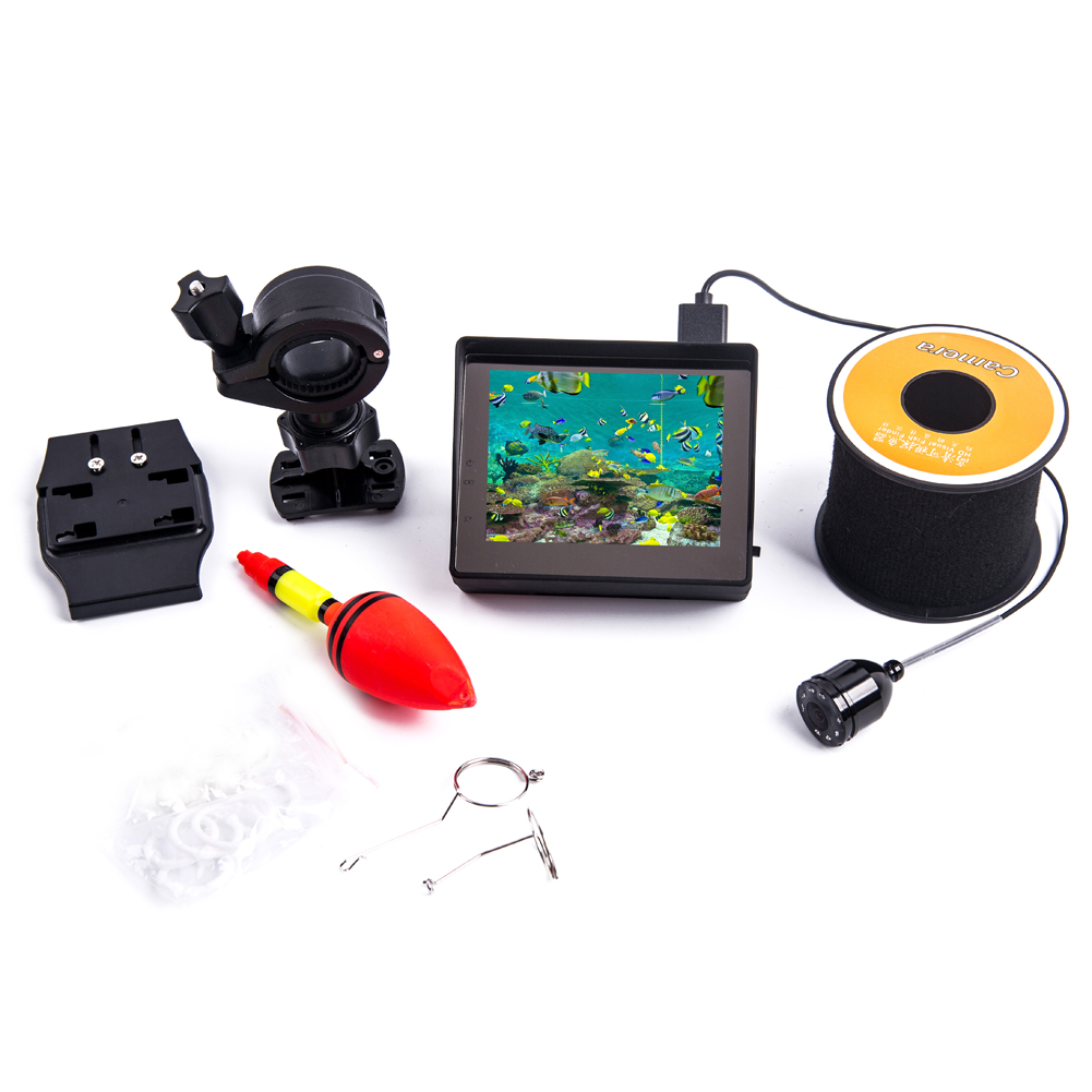 High Definition 30m Professional Fish Finder Underwater Fishing Video Camera Monitor 3.4 inch LCD protable monit Fish Finder 30m video