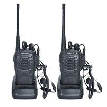 2 шт. Двухканальные рации Радио Baofeng BF-888S 5 Вт Портативный Хэм CB Радио двухстороннее ручной КВ трансивер переговорные BF-888S