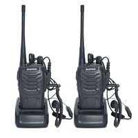 2pcs Walkie Talkie Radio BaoFeng BF 888S 5W Portable Ham CB Radio Two Way Handheld HF