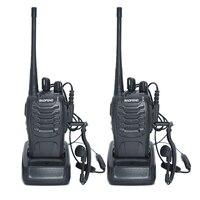 2pcs Walkie Talkie Radio BaoFeng BF 888S 5W Portable Ham CB Radio Two Way Handheld HF