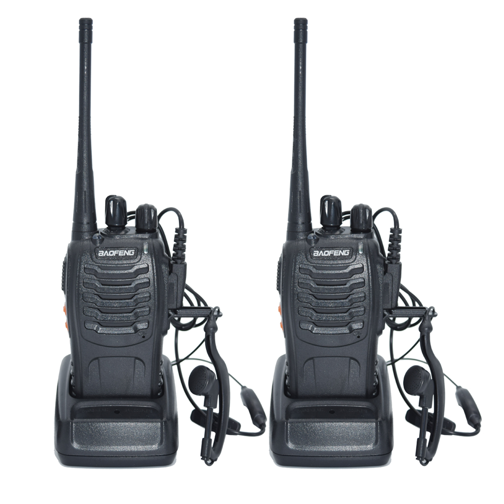 2 pz Walkie Talkie Radio BaoFeng BF-5 W Portatile Ham Radio CB Two Way Palmare HF Ricetrasmettitore Interfono bf-
