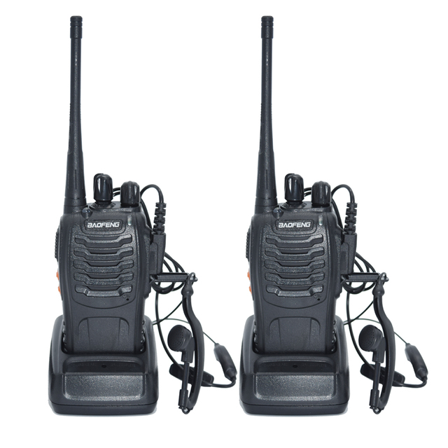 US $29 33 25% OFF|2pcs Walkie Talkie Radio BaoFeng BF 888S 5W Portable Ham  CB Radio Two Way Handheld HF Transceiver Interphone bf 888s-in Walkie