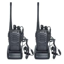 2pcs Walkie Talkie Radio BaoFeng BF-888S 5W Portable Ham CB Radio Two Way Handheld HF Transceiver Interphone bf-888s
