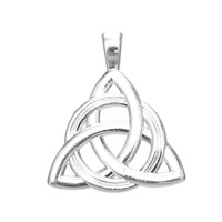Dawapara 20pcs a lot metal religious circle with triad knot charms jewelry