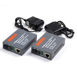 1pair HTB-3100AB 10/100M Fiber Optical Media Converter SC Singlemode Single Fiber Optic Transceiver and Receiver 25KM
