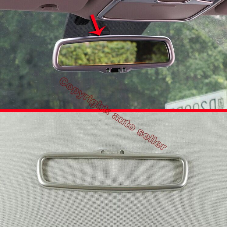 ABS Pearl <font><b>Chrome</b></font> Interior <font><b>Mirror</b></font> Cover Trim For <font><b>KIA</b></font> Sportage 2016 2017 2018 image