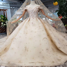 HTL153 luxury material wedding dresses with wedding veil spacial sweetheart shiny handmade bride dress wedding gown new fashion(China)