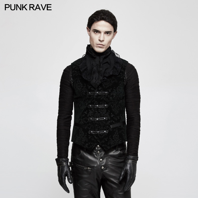 2017 Punk Rave New Rock 3 colors choice,Gothic Streampunk Steam Pinup Vest Y813GR