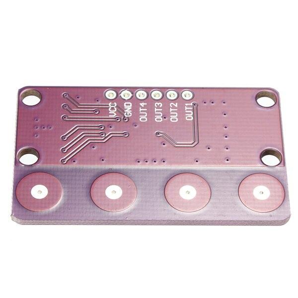 1 шт. cjmcu-0401 4-немного кнопку емкостный сенсорный близость сенсор с самоблокирующимся функция для ардуино сенсор доска самые низкие цены