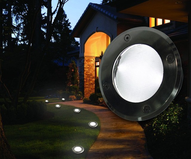 Solar Underground Lamp Floor Lamp Outdoor Lights Garden Lights Lawn Floor  Lights Can Be Selected Saving Buried Light Multicolor