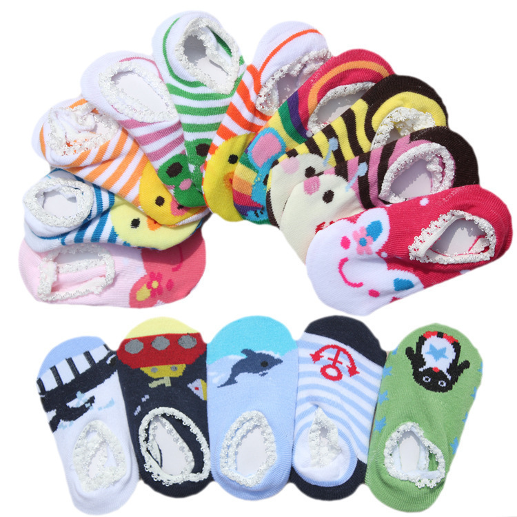 baby shoes The new ultra-popular cartoon nissen lace floor socks baby socks children socks cartoon