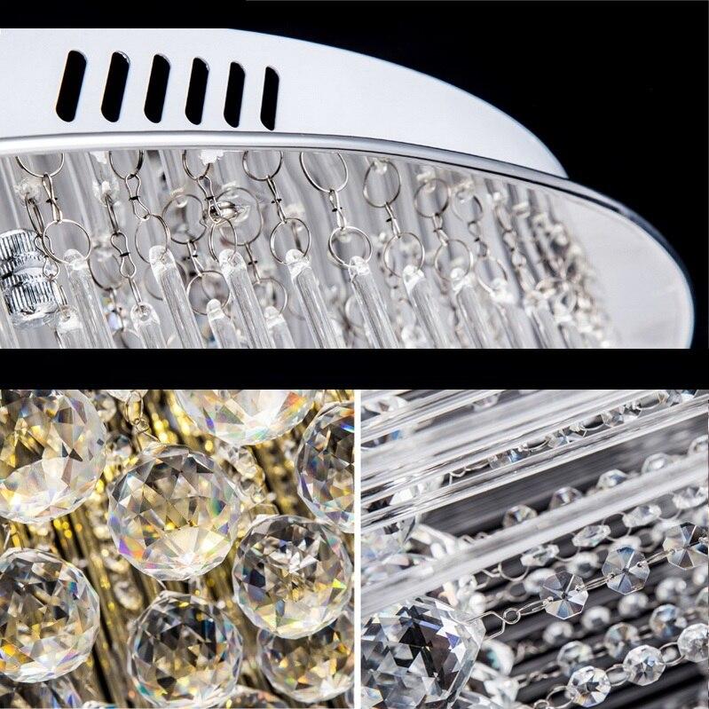 cristal levou luz de teto lampada lustre 04