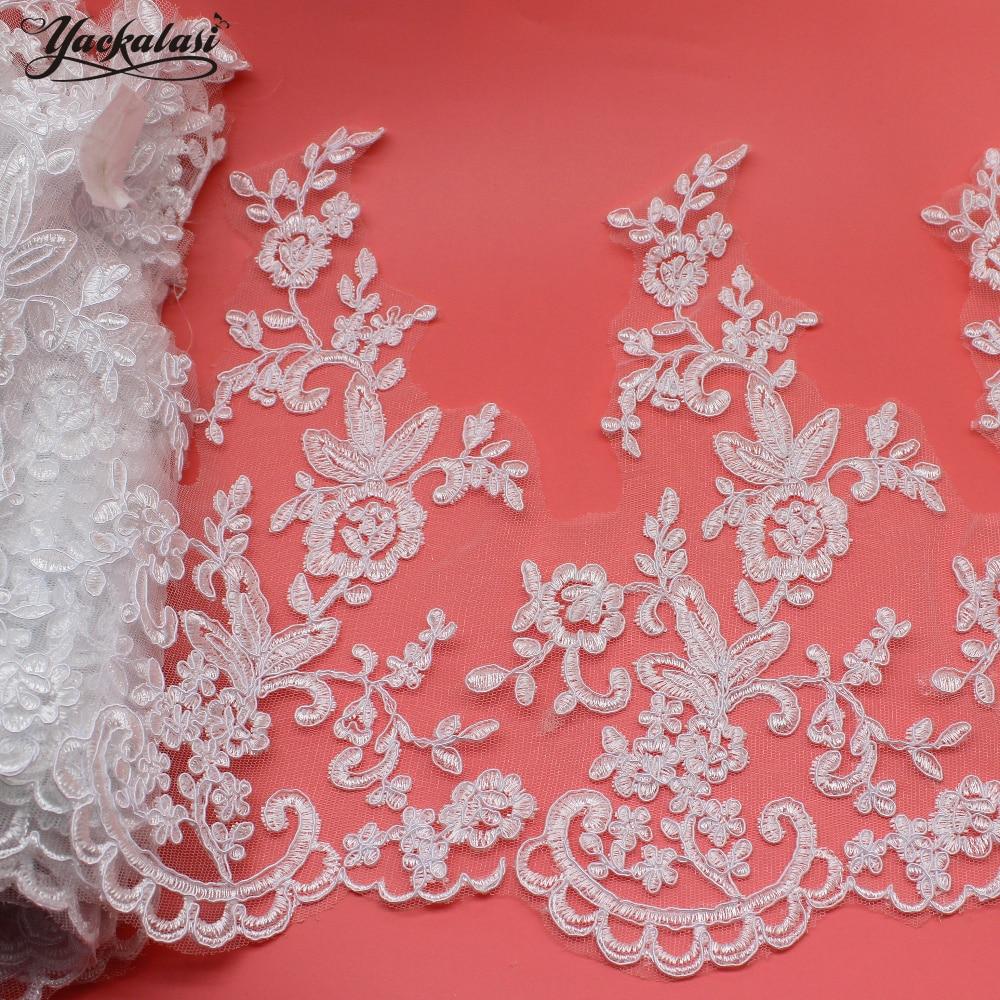 ộ ༽yackalasi yards lot white bridal dress lace
