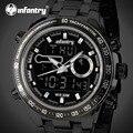 INFANTRY Men's Quartz Watches Relogio Masculino Luxury Brand Waterproof Full Steel Strap Wristwatches Luminous Military Clocks