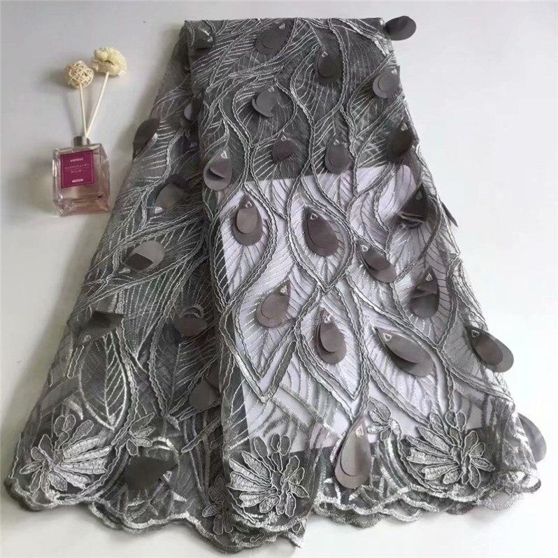 Элегантный красивый, простой роскошный 3D блесток наклейки дизайн, светло серый высокое качество вышивка кружево ткани, стоит иметь pfrf