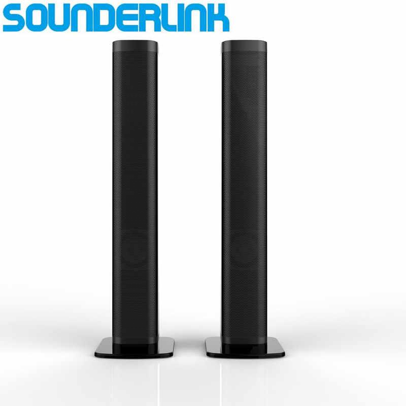 Sounerlink ワイヤレス着脱式の Bluetooth テレビサウンドバースピーカーホームシアターバーサポート光学 SPDIF AUX IN 用のホーム