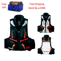 NEW TOP Quality Daiwa Fishing Vest High Density Polyester Life Jackets Buoyancy Windproof Fly Fishing Vests With Gift