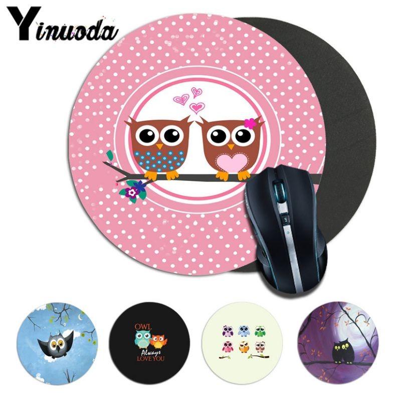 Yinuoda Custom Skin OWL Rubber PC Computer Gaming mousepad Size for 20*20cm 22*22cm round mousepad Rubber Rectangle Mousemats
