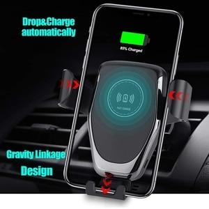 Image 2 - DCAE cargador de coche inalámbrico Qi, carga rápida, 10W, para iPhone 11 Pro X 8 XS XR Samsung S20 S10, soporte de teléfono de carga rápida