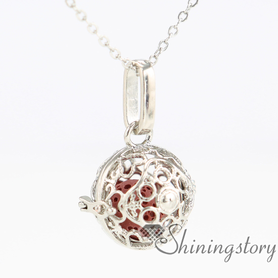 Heart ball metal volcanic stone essential oil necklace girls heart ball metal volcanic stone essential oil necklace girls locket engravable lockets aroma pendants openwork necklaces aloadofball Gallery