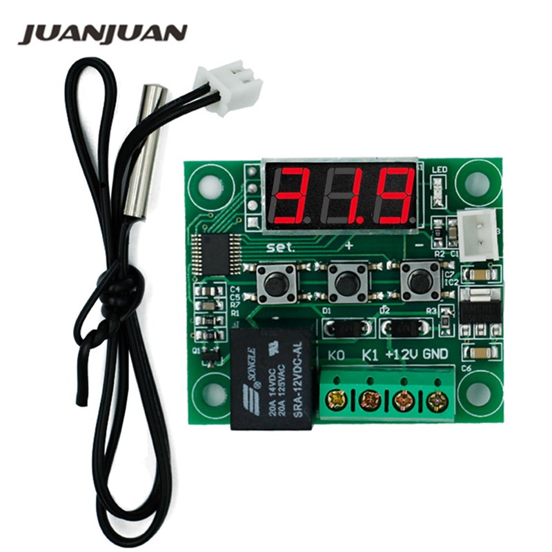 100pcs by dhl fedex Mini thermostat Temperature controller Incubation thermostat temperature control W1209 with switch 20