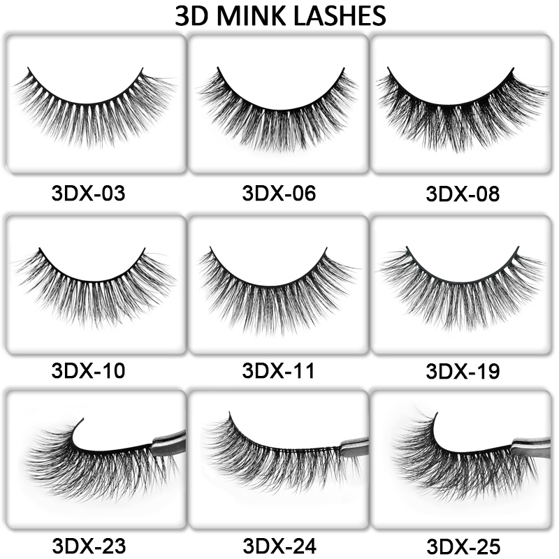 SHIDISHANGPIN hand made 3d mink lashes 3d mink makeup false eyelash natural long faux cils false eyelashes fluffy eyelashes